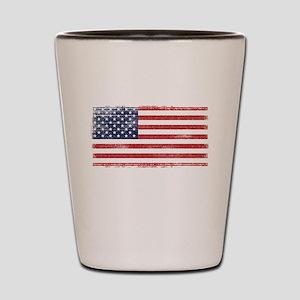 US flag vintage Shot Glass