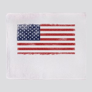 US flag vintage Throw Blanket