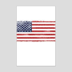 US flag vintage Mini Poster Print