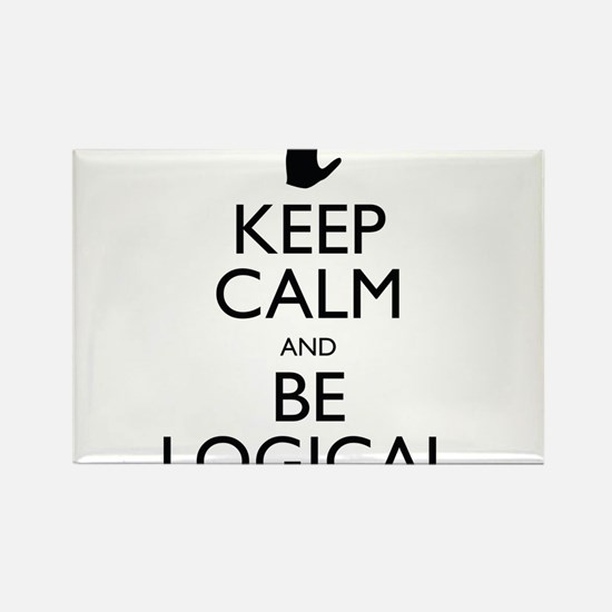 Keep Calm and Be Logical Rectangle Magnet