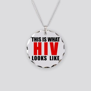 HIV Necklace Circle Charm