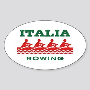 Italia Rowing Sticker (Oval)