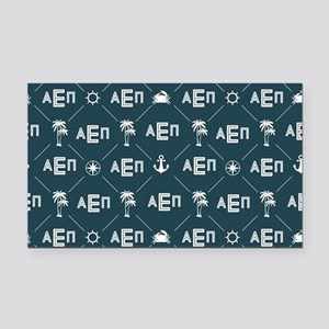 Alpha Epsilon Pi Pattern Blue Rectangle Car Magnet