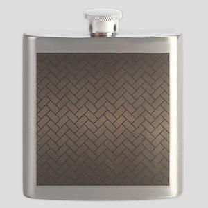 BRICK2 BLACK MARBLE & BRONZE METAL (R) Flask