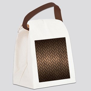 BRICK2 BLACK MARBLE & BRONZE META Canvas Lunch Bag