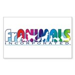 Franimals Rectangle Sticker
