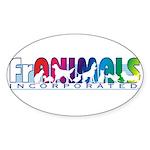 Franimals Oval Sticker