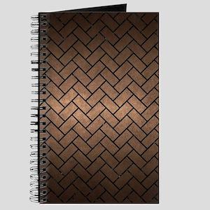 BRICK2 BLACK MARBLE & BRONZE METAL (R) Journal