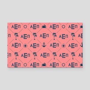 Alpha Epsilon Pattern Coral Rectangle Car Magnet