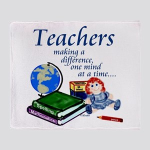 Teachers Making a Difference Throw Blanket