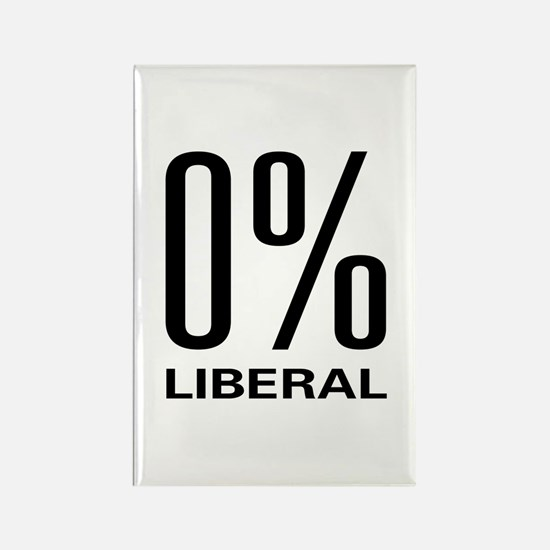 0% Liberal Rectangle Magnet