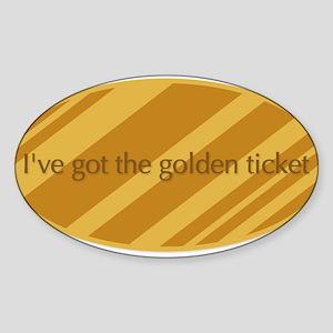 The Golden Ticket Sticker (Oval)