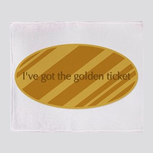 The Golden Ticket Throw Blanket