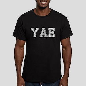 YAE, Vintage, Men's Fitted T-Shirt (dark)