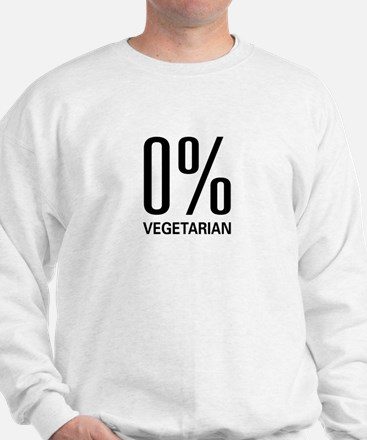 0% Vegetarian Sweatshirt