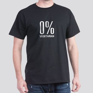 0% Vegetarian Black T-Shirt