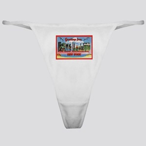Long Island New York Greetings Classic Thong