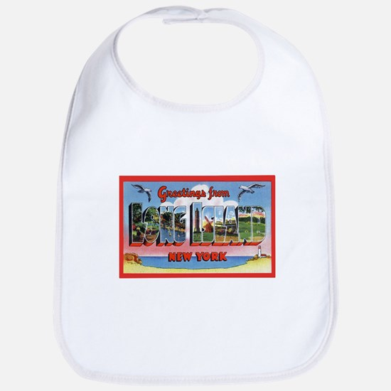 Long Island New York Greetings Bib