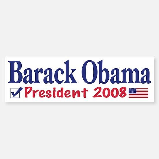 Vote Barack Obama 2008 Bumper Bumper Bumper Sticker