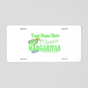 Classic Margaritas Aluminum License Plate