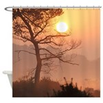 New Forest sunrise shower curtain