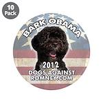 "Dogs Against Romney ""Bark Obama"" Button"