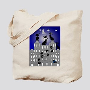 Black Cat Cards Tote Bag