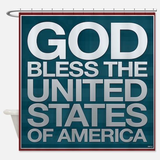 God Bless The USA Shower Curtain