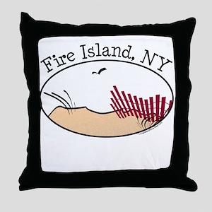Fire Island Beach Dunes Throw Pillow