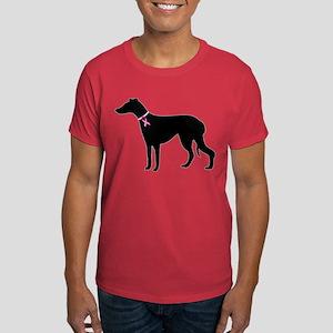 Greyhound Breast Cancer Support Dark T-Shirt
