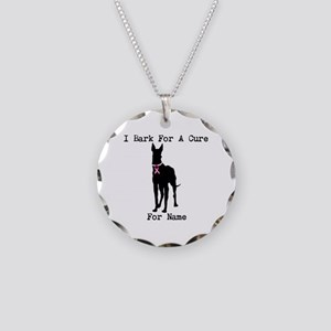 Great Dane Personalizable I Bark For A Cure Neckla