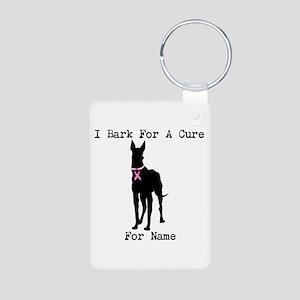 Great Dane Personalizable I Bark For A Cure Alumin