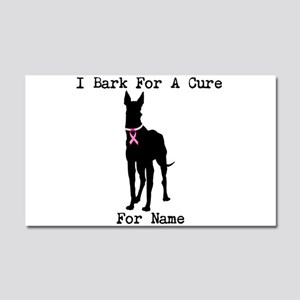 Great Dane Personalizable I Bark For A Cure Car Ma