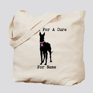 Great Dane Personalizable I Bark For A Cure Tote B