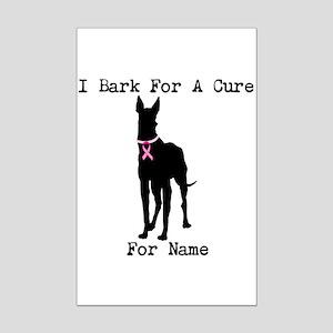 Great Dane Personalizable I Bark For A Cure Mini P