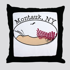 Montauk Beach Throw Pillow
