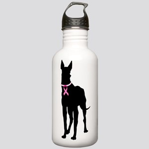 Great Dane Breast Cancer Support Stainless Water B