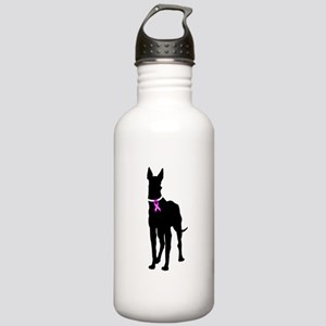 Great Dane Breast Cancer Supp Stainless Water Bott