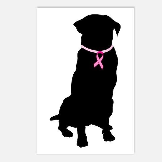Golden Retriever Breast Cancer Support Postcards (