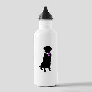 Golden Retriver Breast Cancer Stainless Water Bott
