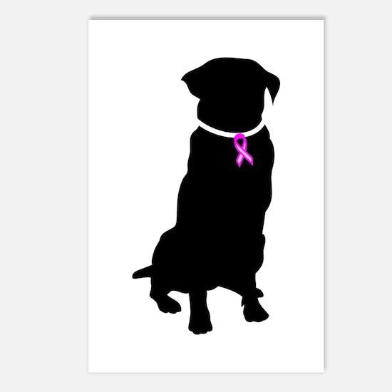 Golden Retriver Breast Cancer Postcards (Package o