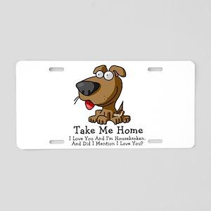 Take Me Home Aluminum License Plate