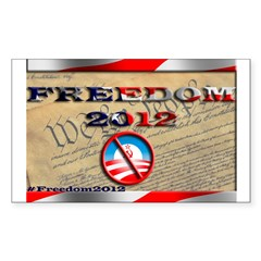 Freedom 2012 Sticker (Rectangle)