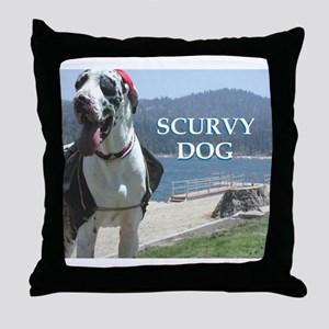 Scurvy Dog Throw Pillow