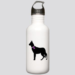 German Shepherd Breast Cancer Stainless Water Bott