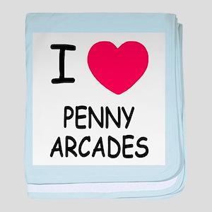 i heart penny arcades baby blanket