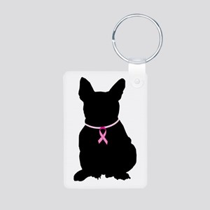 French Bulldog Breast Cancer Support Aluminum Phot