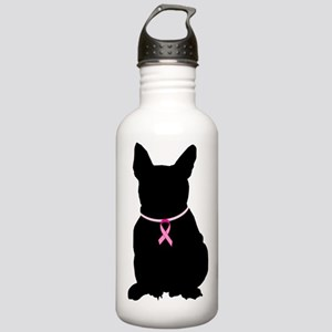French Bulldog Breast Cancer Support Stainless Wat