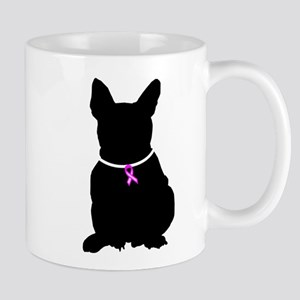 French Bulldog Breast Cancer Mug