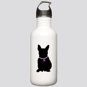 French Bulldog Breast Cancer Stainless Water Bottl